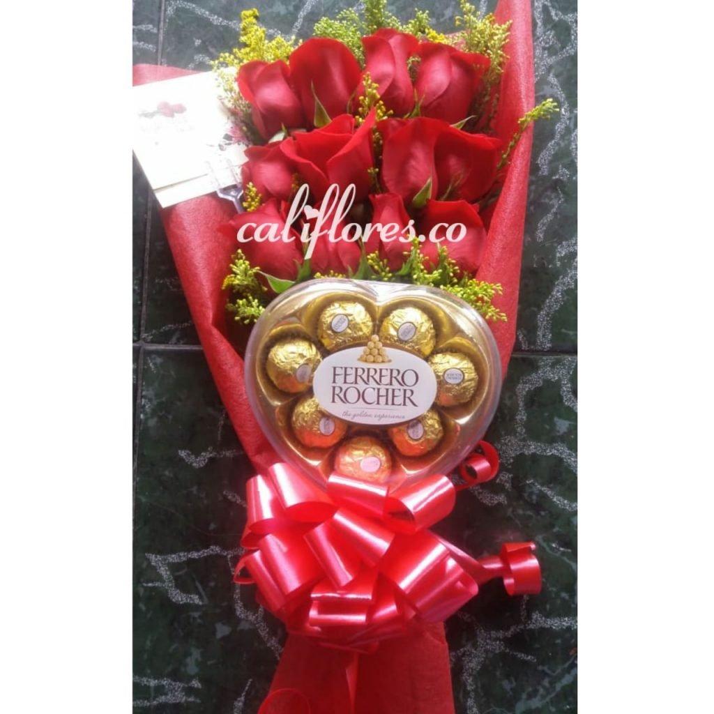 Rosas Y Ferreros Floristeia Cali