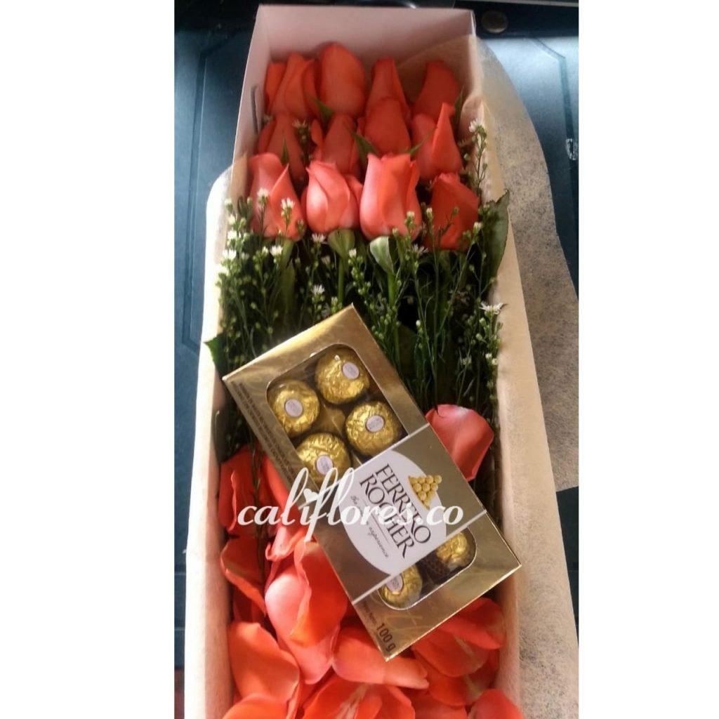 Caja De rosas Floristeria Cali
