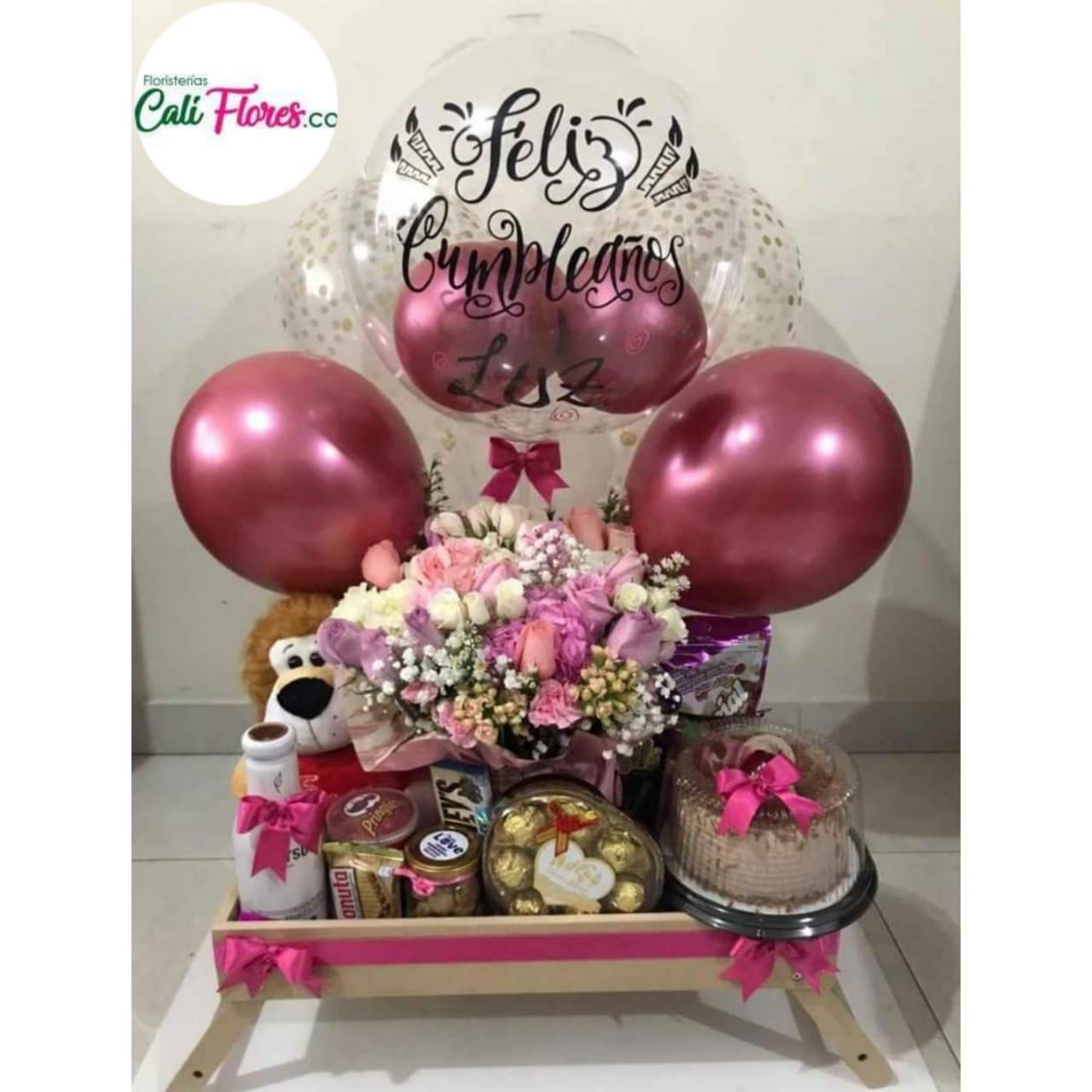 Desayunos Sorpresas en Cali - Globos Personalizados- Detalles, Regalos y Arreglos florales económicos Cumpleaños y Fechas especiales Regalos para tu pareja.