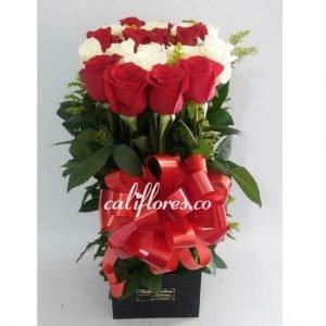 Regalos Cali Domicilio | Se compone de Cubo rosas rojas y blancas Para mas información: Celular:(+57) 316 705 28 09 Floristeria en Cali